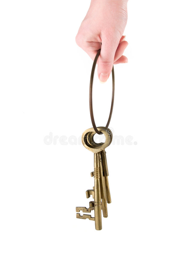 Download Holding the Keys stock image. Image of brass, bronze, side - 1826191