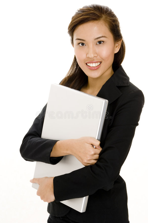 Download Holding Laptop stock photo. Image of pretty, laptop, person - 1243880