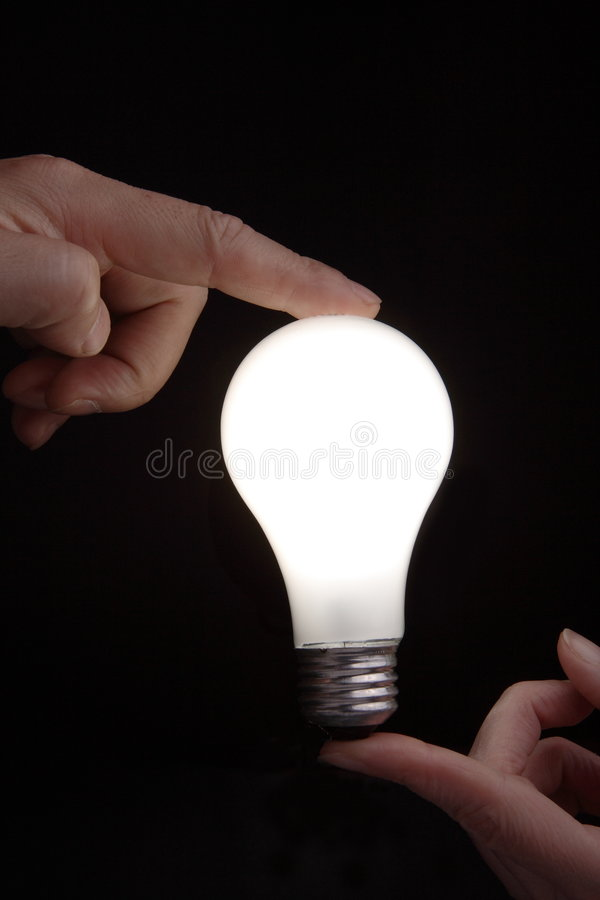 Holding light royalty free stock image