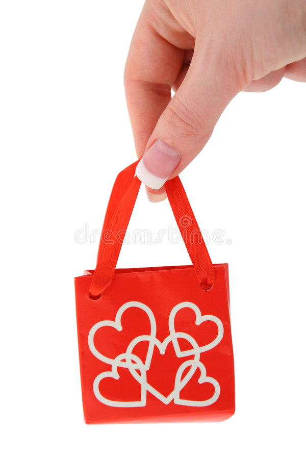 Free Holding Love Gift Bag 2 Stock Photography - 805622