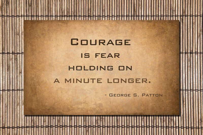 Holding on a minute longer - George S. Patton stock photo