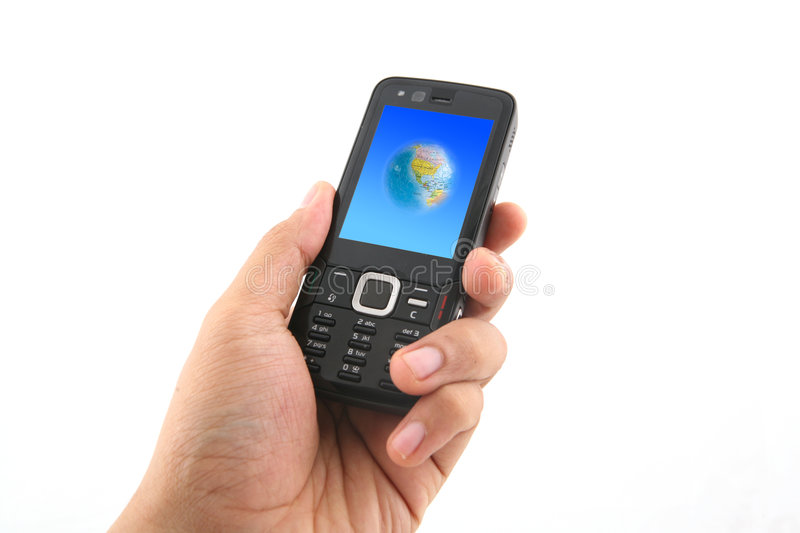 Download Holding a Mobile Phone stock image. Image of cellphone - 6071355