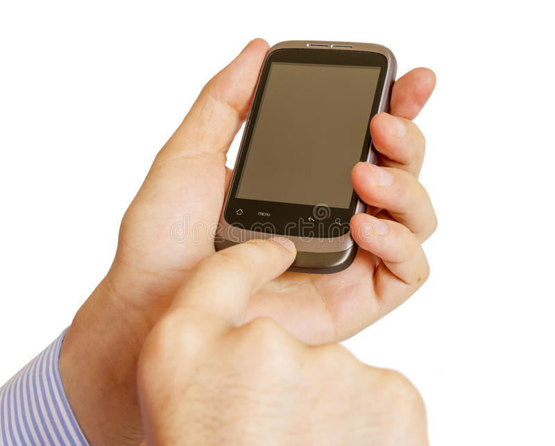 Download Holding Mobile Smart Phone In Hand Stock Image - Image: 25981567