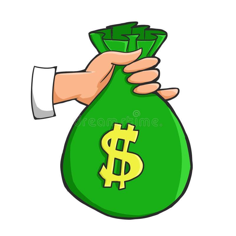 Download Holding money bags stock illustration. Illustration of business - 34081852