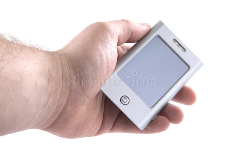Download Holding a PDA stock photo. Image of closeup, mini, hold - 19037046