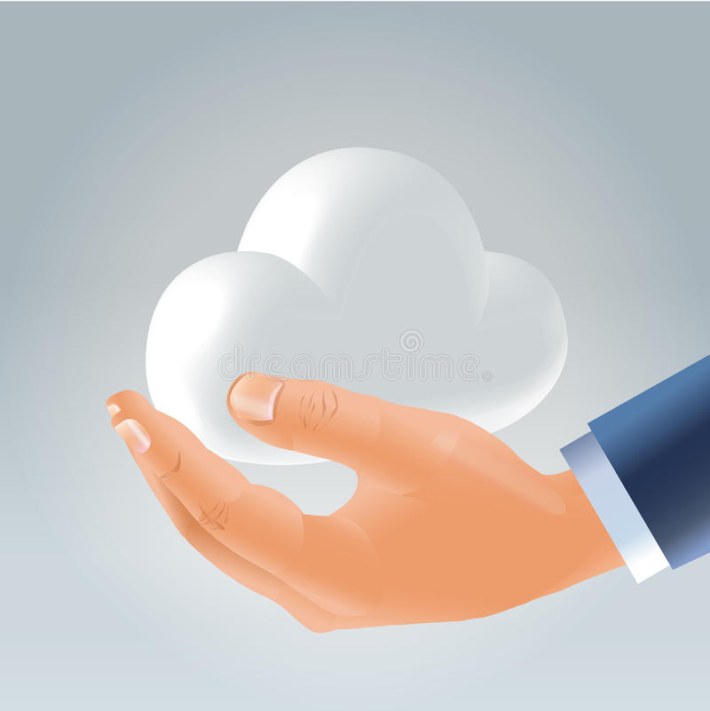 Download Holding Personal Cloud - Edge Technology Alive Stock Image - Image: 24841041
