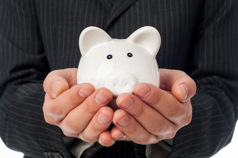 Download Holding piggy bank stock photo. Image of protect, account - 36751968