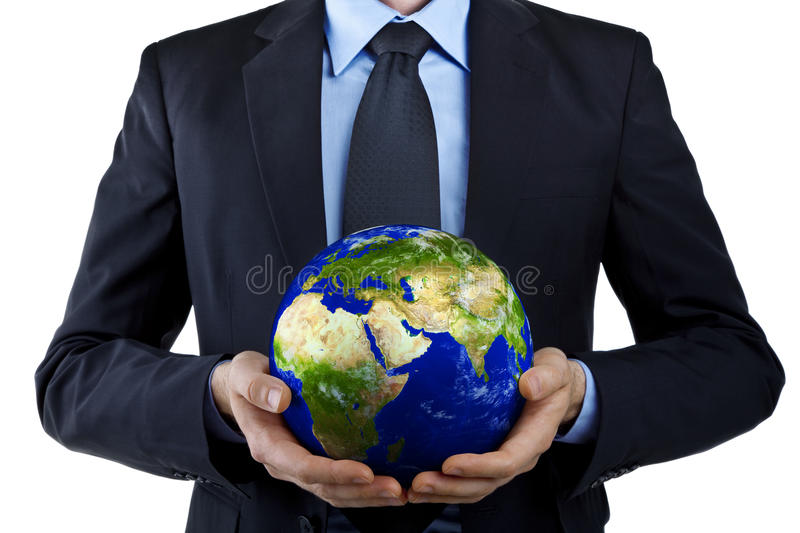 Holding planet Earth royalty free stock image