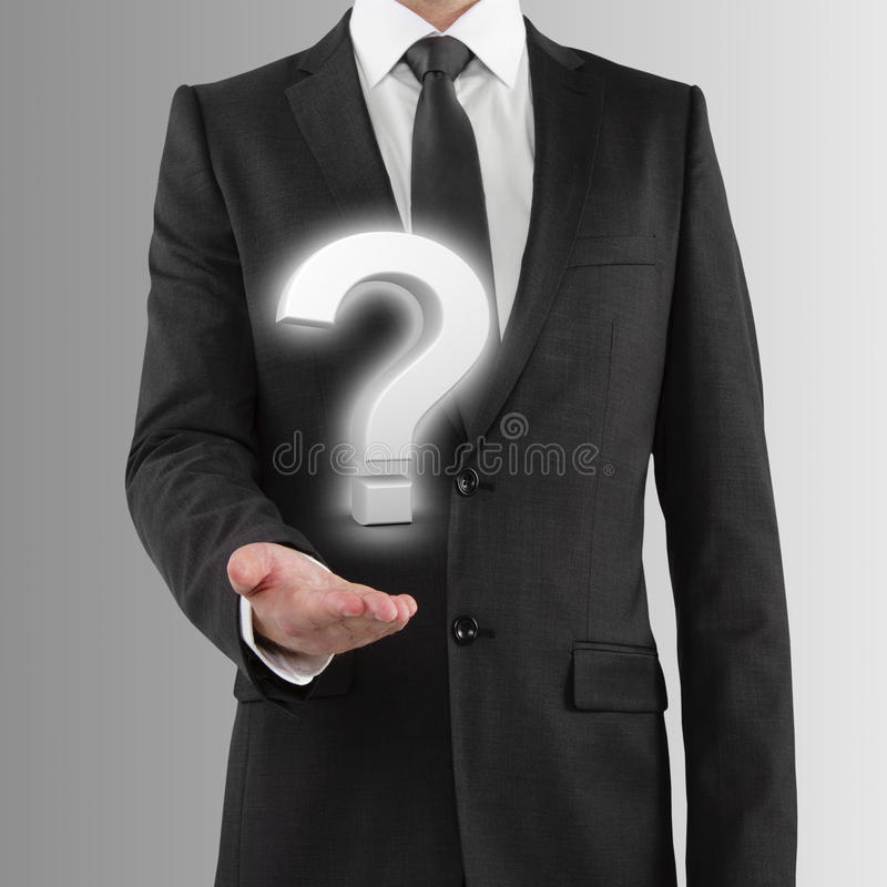Download Holding Question Mark Stock Photo - Image: 39387072
