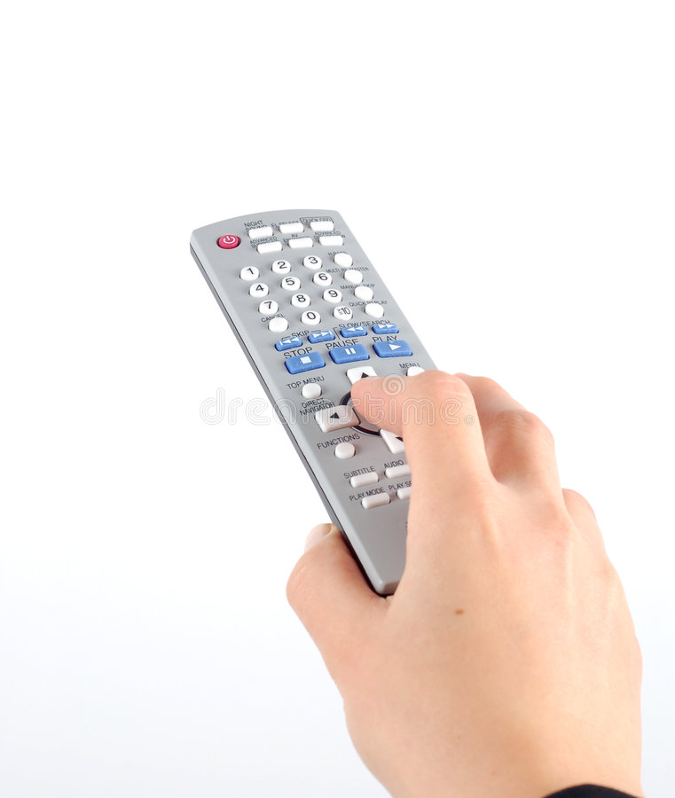 Free Holding Remote Control Royalty Free Stock Photography - 1958187