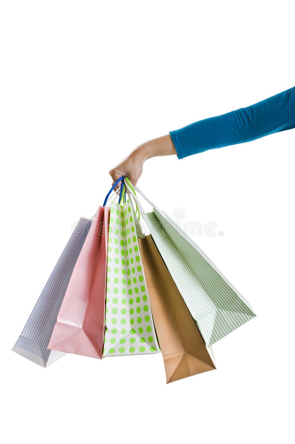 Holding Shopping Bags royalty free stock image