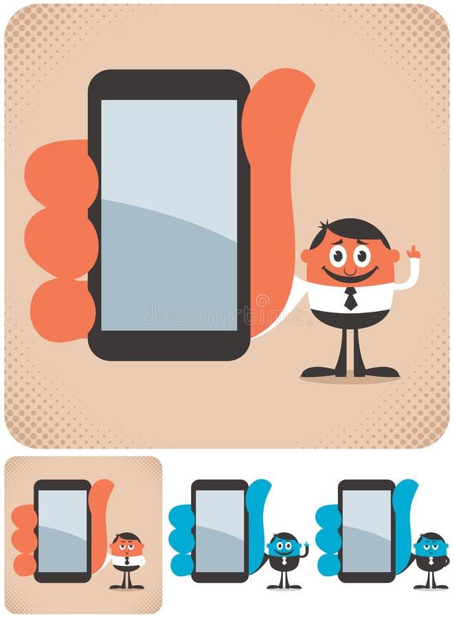 Holding Smartphone royalty-vrije illustratie