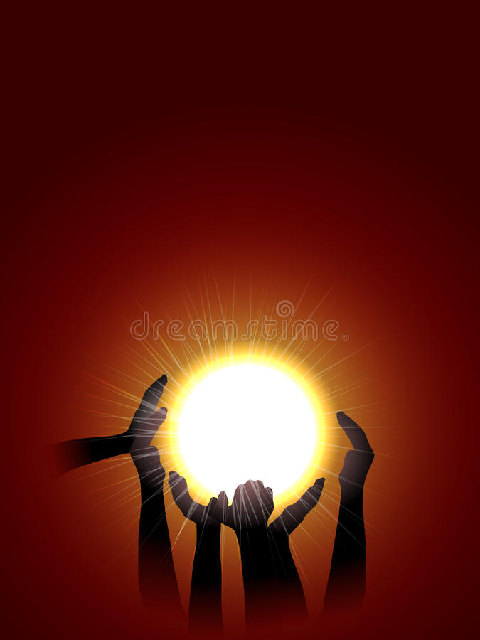 Download Holding sun stock illustration. Illustration of background - 23971734