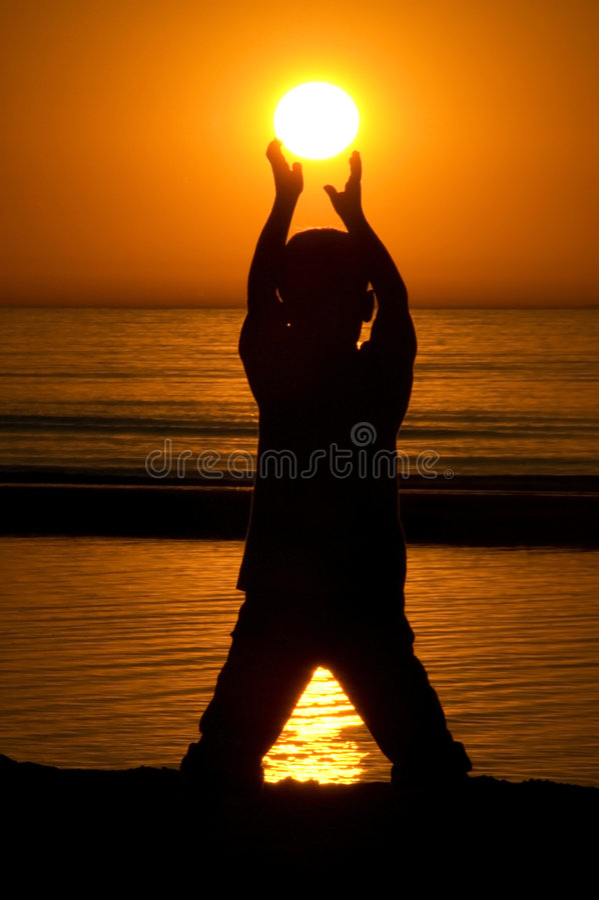 Holding The Sun royalty free stock photos