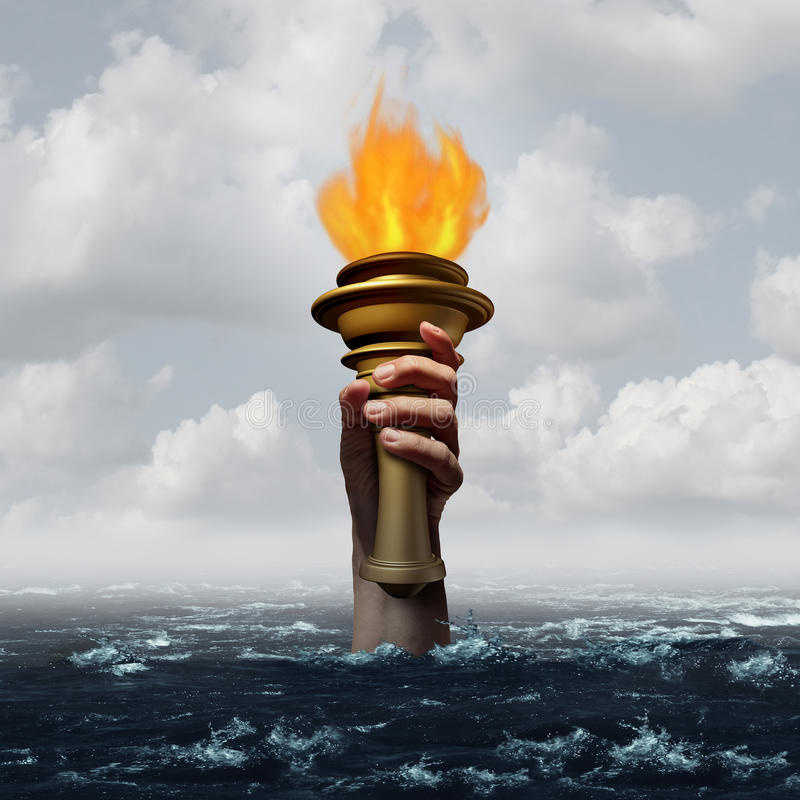 Holding The Torch stock illustration