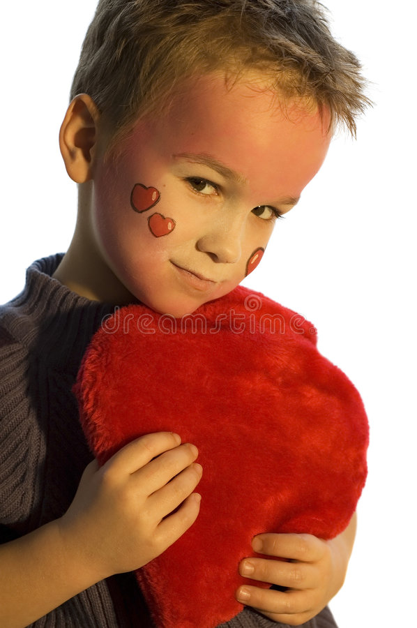 Holding a Valentine Heart stock images
