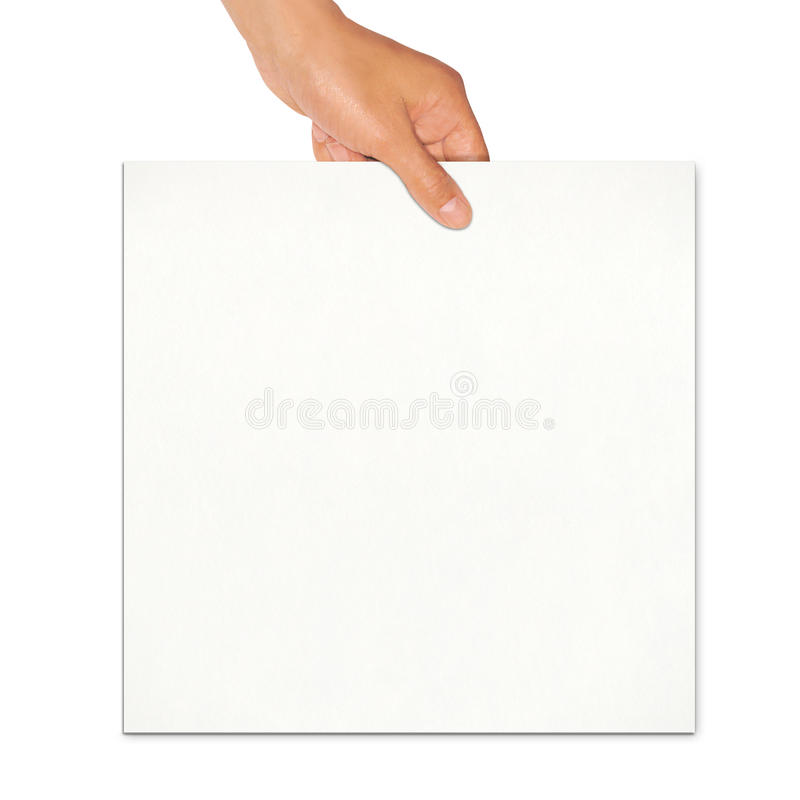 Download Holding white board stock image. Image of cardboard, blank - 19560861