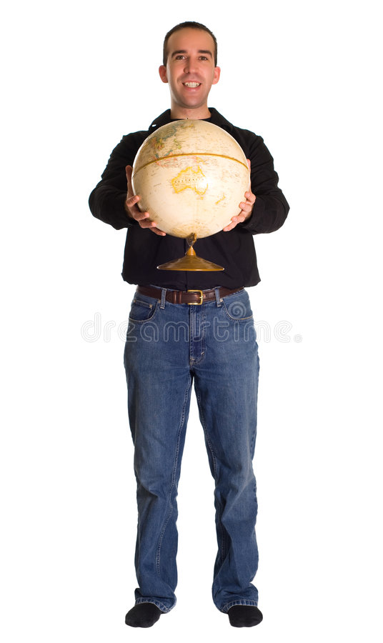 Download Holding The World stock image. Image of earth, smile, happy - 7256203