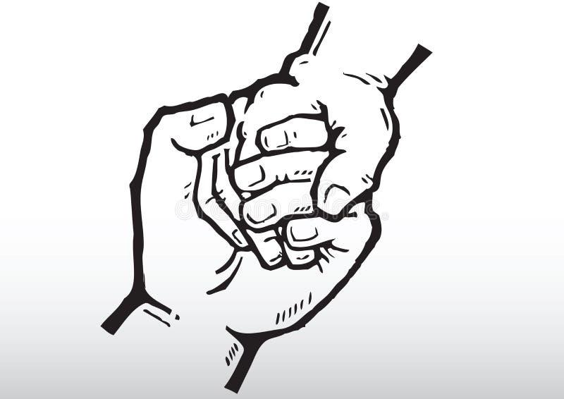 Holdinghände lizenzfreie abbildung