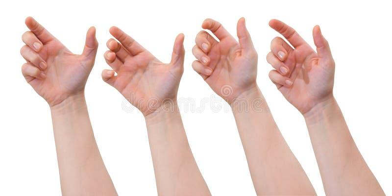 Holdinghänder fotografering för bildbyråer