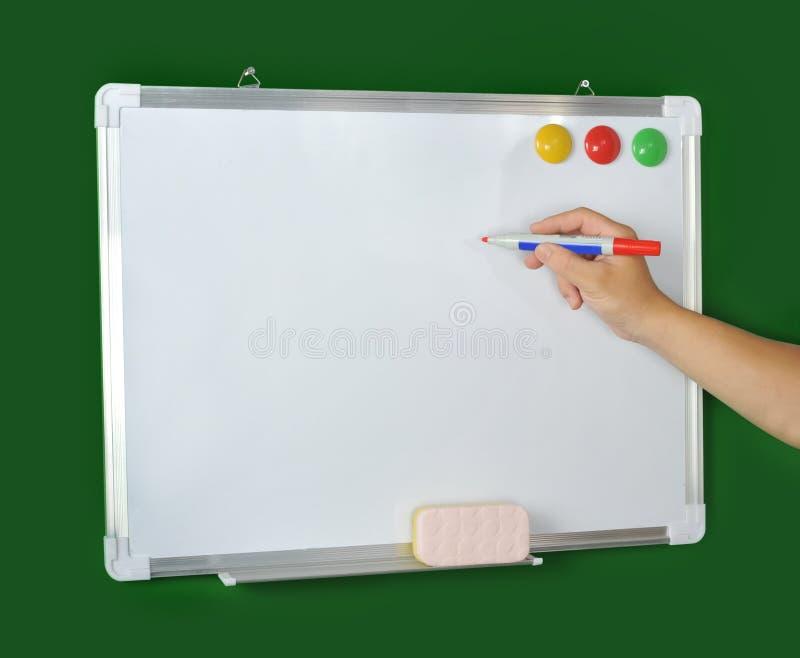 Holdingmarkierung whiteboard stockfotografie