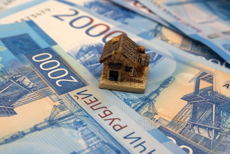 holdingshuis die huiseigendom en Real Estate-bu vertegenwoordigen royalty-vrije stock afbeelding