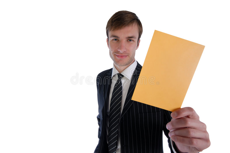 Holds in hand enveloppe stock photography