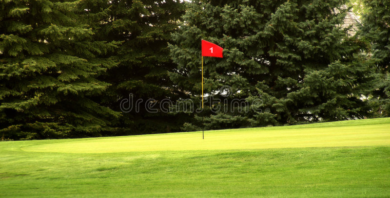 Download Hole # 1 stock image. Image of team, flag, ball, golf, round - 128209