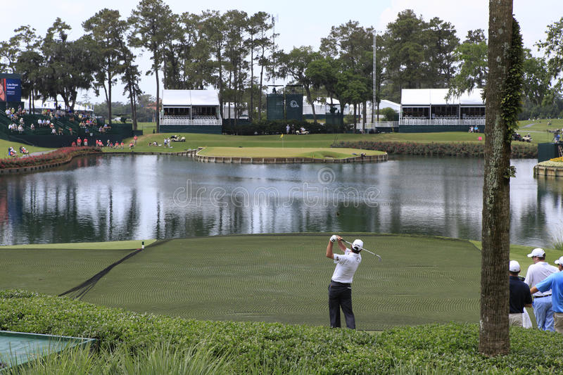 Hole 17, The Players, TPC Sawgrass, FL royalty free stock photos