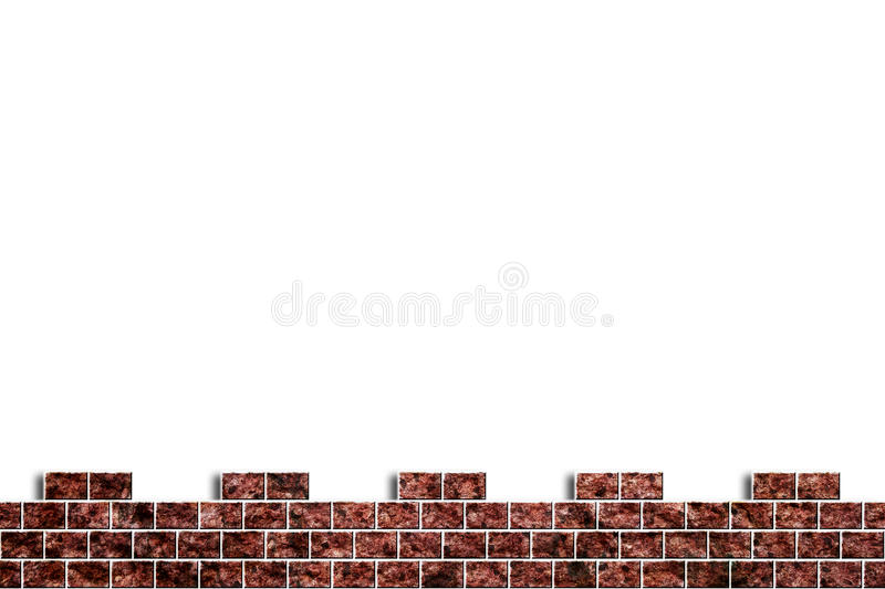 Hole in a brick wall. Hole in a old brick wall realistic broken on white background - grunge royalty free illustration