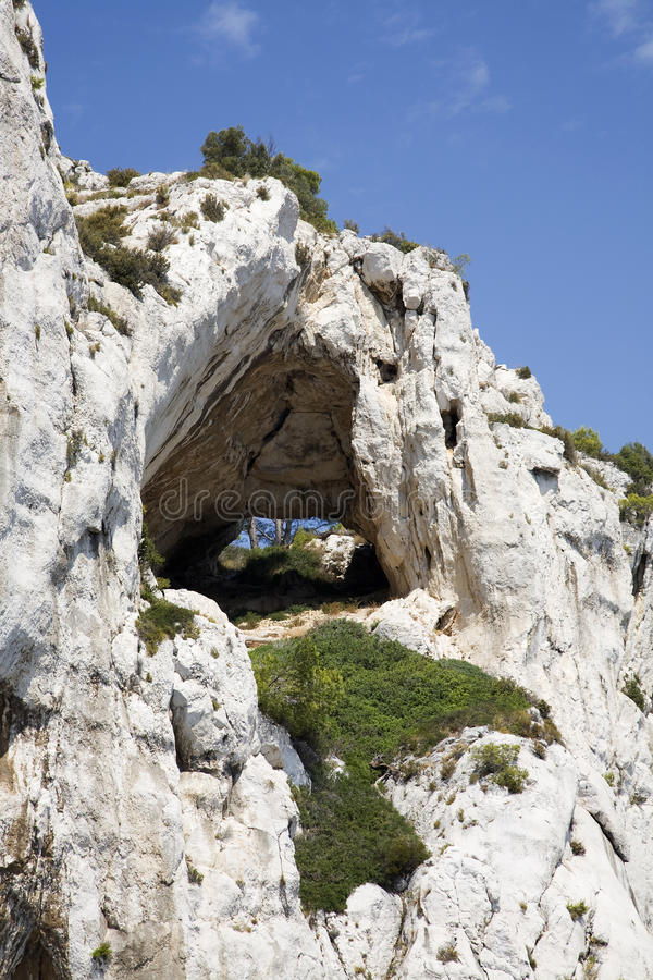 Download Hole in the Calanques stock photo. Image of landscape - 11229818