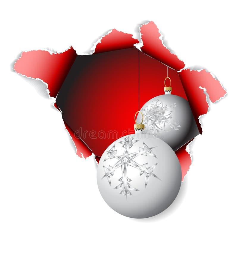 Hole into Christmas time stock illustration