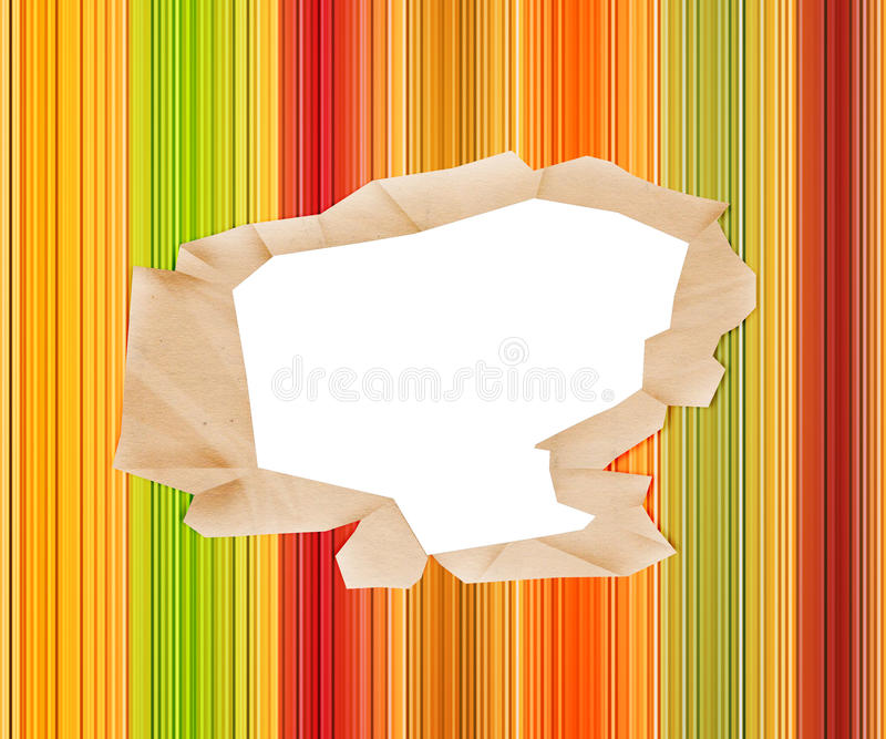 Hole in Colored Paper stock illustration