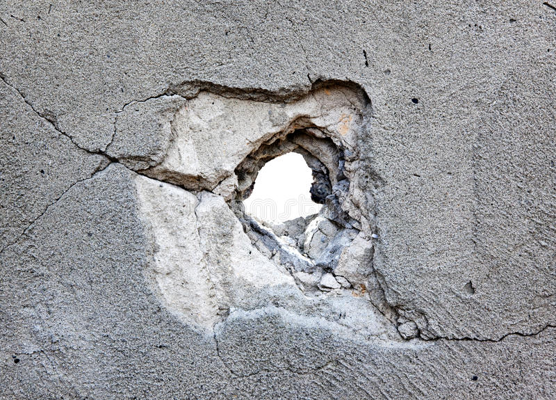 Download Hole In The Concrete Royalty Free Stock Photography - Image: 13961447