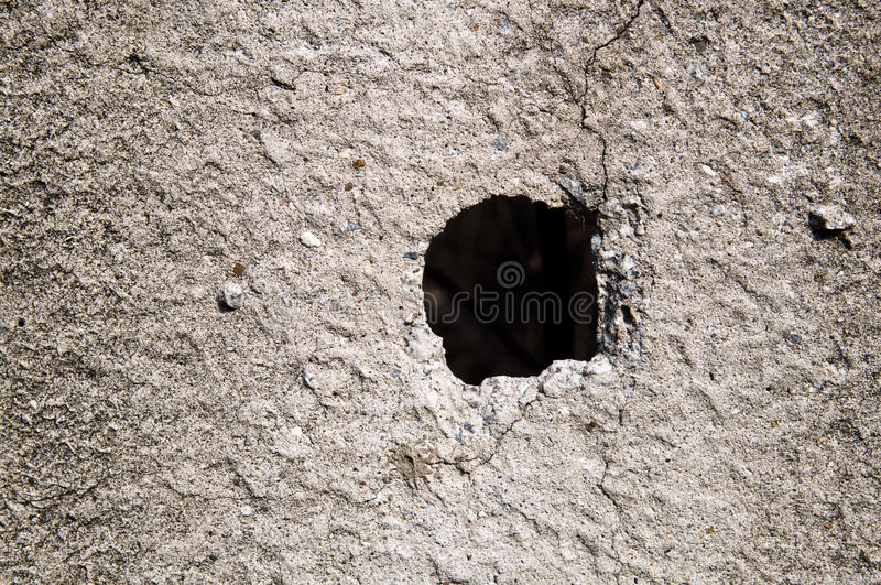 Download Hole in concrete wall stock photo. Image of hole, beton - 9433720