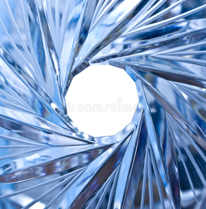 Hole In Crystal Stock Photo
