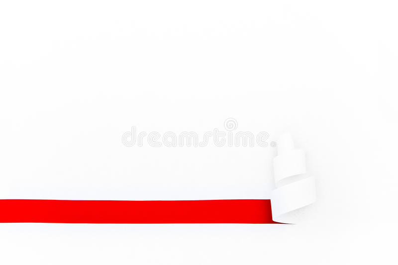 Hole cut in white paper stock photos
