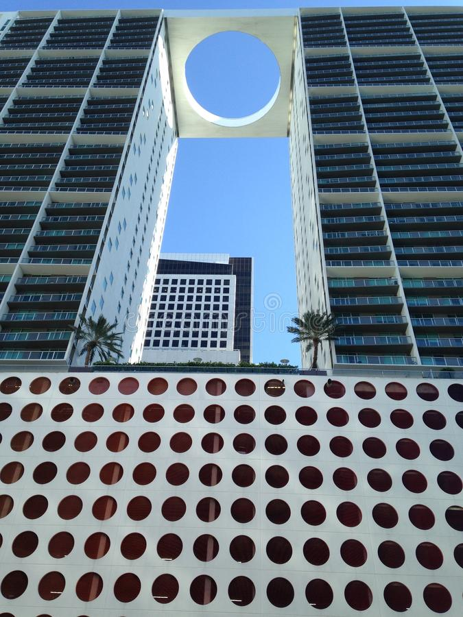 The hole deal. A view of a Miami, Florida, luxury living accommodation, 2. stock image