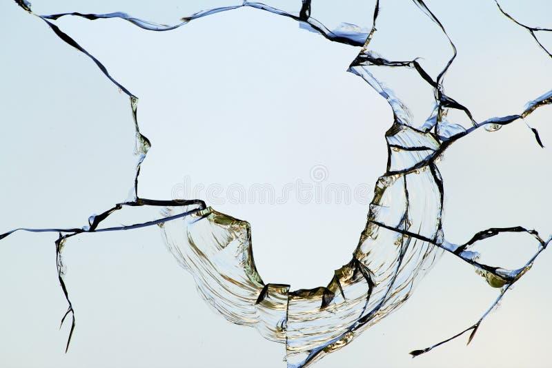 Hole glass broken sky royalty free stock image