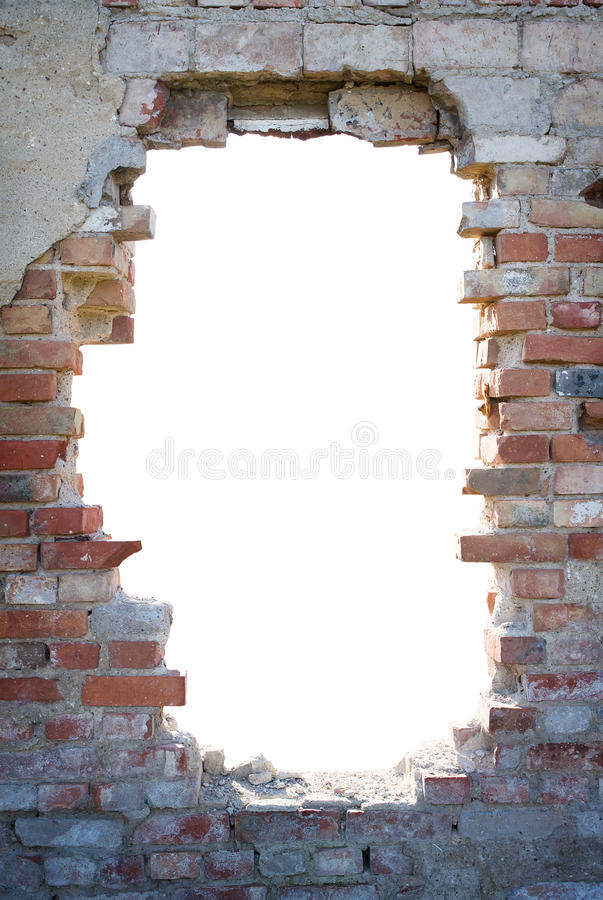 Free Hole In The Brick Wall With Copy Space Stock Image - 21727261