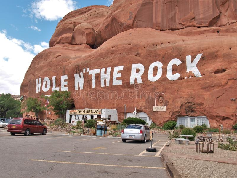 Hole N` The Rock Attraction in Utah stock photos