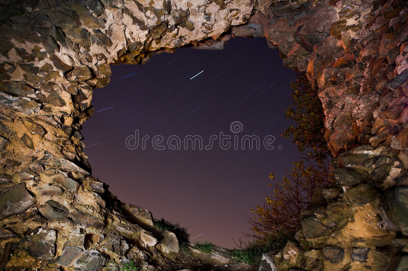 Hole in the Old Wall royalty free stock images