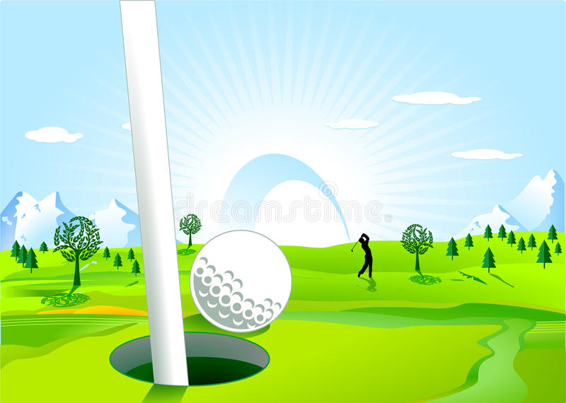 Download Hole in one stock vector. Image of club, bunker, vacation - 16607952