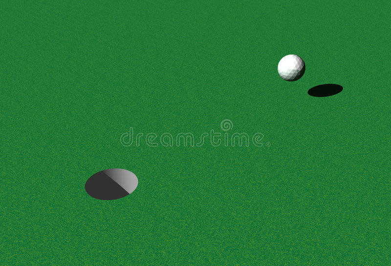 Hole in One royalty free illustration