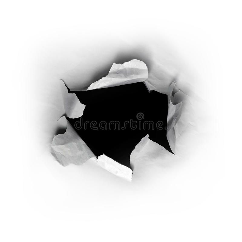 Hole in paper stock image. Image of frame, exploding ...