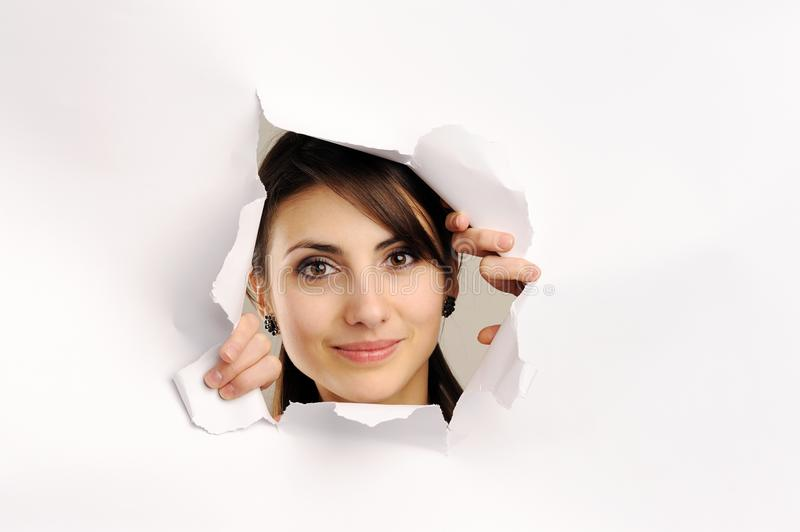 Download Hole in paper stock image. Image of hole, face, young - 18047237
