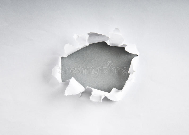 Download Hole in the paper stock image. Image of empty, discovery - 18104817