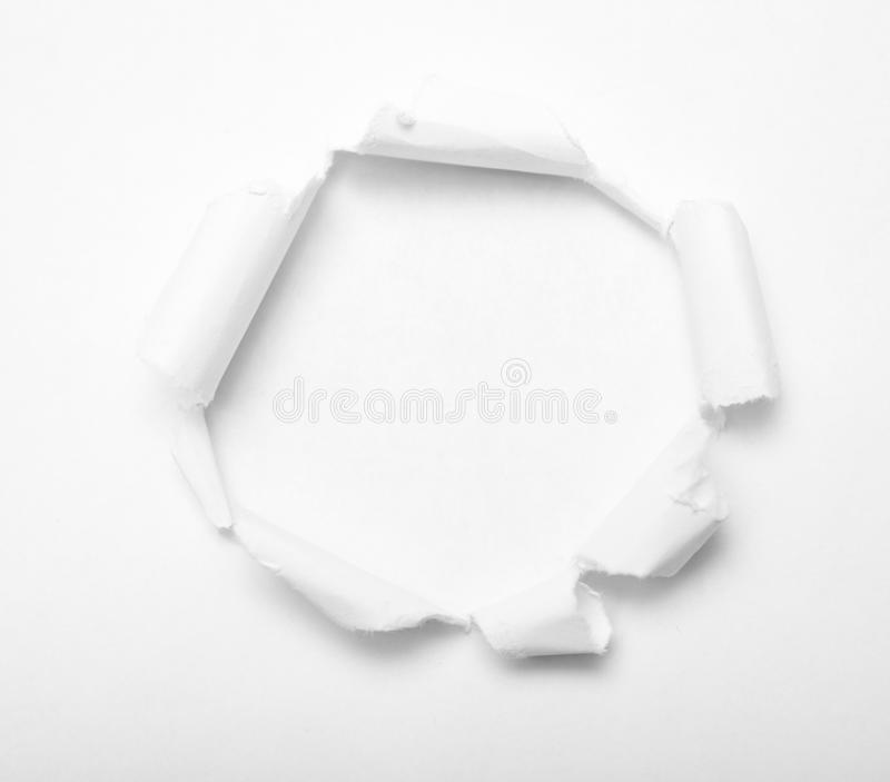 Hole in paper royalty free stock photo