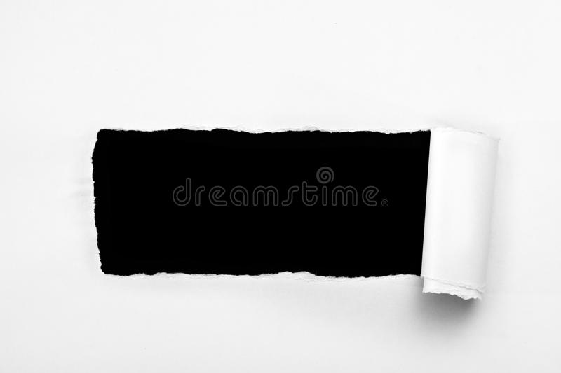 Download Hole ripped in paper stock image. Image of paper, element - 24829487