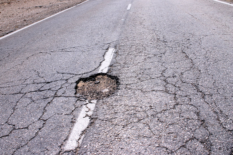 Hole In The Road Royalty Free Stock Images